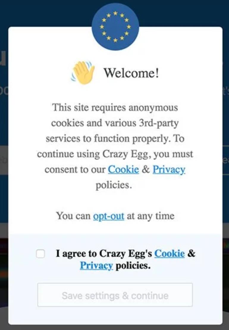 GDPR Crazy Egg
